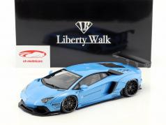 Lamborghini Aventador Liberty Walk LB-Works anno di costruzione 2015 cielo blu metallico 1:18 AUTOart