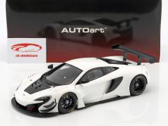 McLaren 650S GT3 year 2017 white / black 1:18 AUTOart