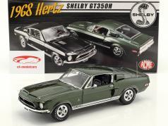 Ford Mustang Shelby GT350H Opførselsår 1968 grøn 1:18 GMP