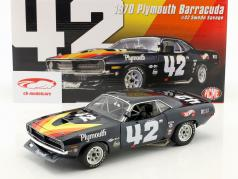Plymouth Trans Am Barracuda #42 Construction year 1970 Swede Savage blue / yellow / red 1:18 GMP