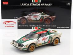 Lancia Stratos HF Rally Dirty Version #1 2 ° Rallye SanRemo 1976 Munari, Maiga 1:18 SunStar