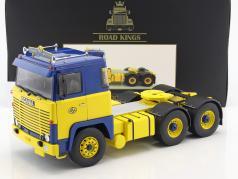 Scania LBT 141 ASG トラクター 築 1976 ブルー / 黄色 1:18 Road Kings