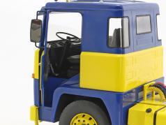 Scania LBT 141 ASG Traktor Opførselsår 1976 blå / gul 1:18 Road Kings