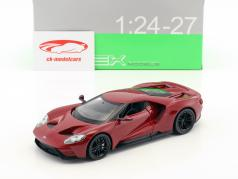 Ford GT year 2017 dark red 1:24 Welly