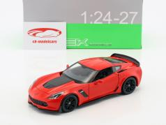 Chevrolet Corvette Z06 year 2017 red 1:24 Welly