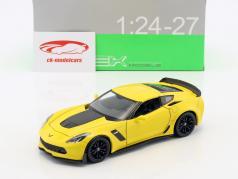 Chevrolet Corvette Z06 Baujahr 2017 gelb 1:24 Welly