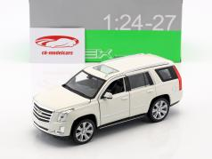 Cadillac Escalade Bouwjaar 2017 wit 1:24 Welly