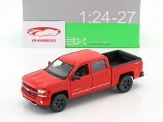 Chevrolet Silverado Baujahr 2017 rot 1:24 Welly