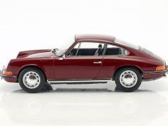 Porsche 911 T 築 1969 暗いです 赤 1:18 Norev