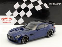 Mercedes-Benz AMG GTR année de construction 2017 bleu métallique 1:18 Minichamps