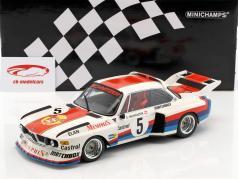 BMW 3.5 CSL #5 winnaar Havirov internationaal 1977 Sepp Manhalter 1:18 Minichamps