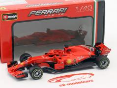 Sebastian Vettel Ferrari SF71H #5 fórmula 1 2018 em bolha 1:43 Bburago