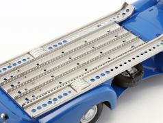 """Mercedes-Benz Renntransporter """"the blue wonder"""" year 1955 blue 1:18 iScale"""