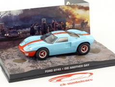 Voiture Ford GT40 film de James Bond Meurs un autre jour bleu clair 1:43 Ixo