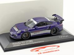 Porsche 911 (991) GT3 RS Porsche Sports Driving School Instructor ultra-violet 1:43 Minichamps