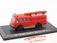 Mercedes-Benz LF 16 LPF 311 bombeiros vermelho 1:72 Altaya