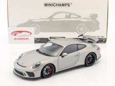 Porsche 911 (991 II) GT3 anno di costruzione 2017 argento 1:18 Minichamps