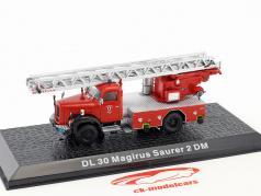 Magirus Saurer 2 DM DL 30 bombeiros ano de construção 1971 vermelho 1:72 Altaya