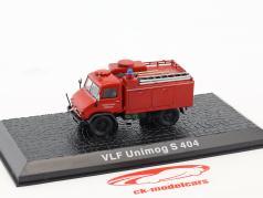 Mercedes-Benz Unimog S404 VLF Feuerwehr Burgsalach Baujahr 1956 rot 1:72 Altaya