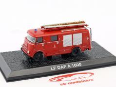 DAF A1600 LF vigili del fuoco anno di costruzione 1948 rosso 1:72 Altaya