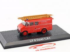 Opel LF8 1,9t пожарное депо Год постройки 1965-1975 красный 1:72 Altaya
