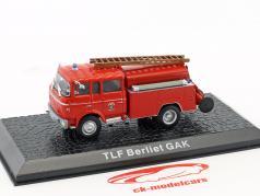 Berliet GAK TLF vigili del fuoco anno di costruzione 1965 rosso 1:72 Altaya