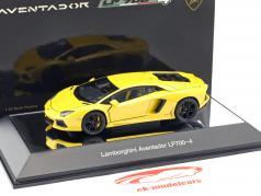 Lamborghini Aventador LP700-4 costruito nel 2011 giallo metallizzato 1:43 AUTOart