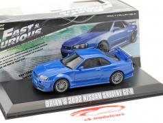 Brian's Nissan Skyline GT-R Fast & Furious 4 2009 blue 1:43 Greenlight