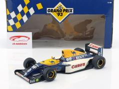 Damon Hill Williams Renault FW15 #0 formula 1 1993 1:18 Minichamps