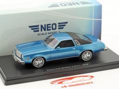 Chevrolet Malibu 2-Door year 1974 blue metallic / black 1:43 Neo