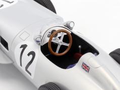 Stirling Moss Mercedes-Benz W196 #12 vencedor britânico GP fórmula 1 1955 1:18 iScale