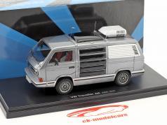 Volkswagen VW T3 Traveller Jet année de construction 1979 anthracite / argent 1:43 AutoCult