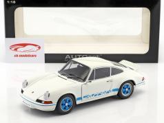 Porsche 911 Carrera RS 2.7 Ano 1973 branco / azul 1:18 AUTOart