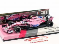 Esteban Ocon Force India VJM11 #31 bahrein GP formule 1 2018 1:43 Minichamps