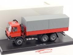 Tatra 815 V26 LKW platform met dekkleed rood / grijs 1:43 Premium ClassiXXs