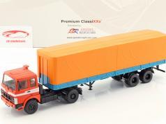 MAZ 5432 truck met oplegger MAZ 93971 rood / blauw / oranje 1:43 Premium ClassiXXs
