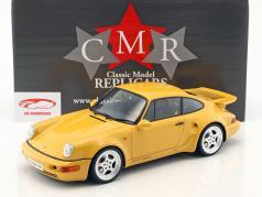 Porsche 911 (964) Turbo S lichtgewicht snelheid geel 1:12 CMR