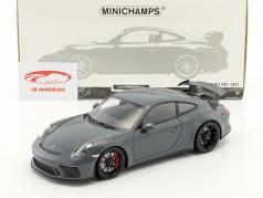 Porsche 911 (991 II) GT3 Bouwjaar 2017 grafiet blauw metalen 1:18 Minichamps