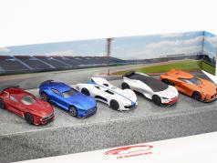 5-Car Set Vision Gran Turismo rojo / azul / blanco / plata / naranja 1:64 Majorette