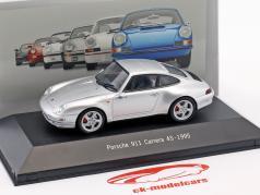 Porsche 911 (993) Carrera 4S Bouwjaar 1995 zilver metalen 1:43 Atlas