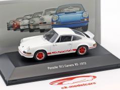 Porsche 911 Carrera RS ano de construção 1973 branco 1:43 Atlas