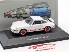 Porsche 911 Carrera RS year 1973 white 1:43 Atlas