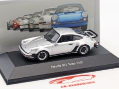 Porsche 911 (930) Turbo année de construction 1975 argent 1:43 Atlas