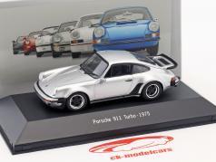Porsche 911 (930) Turbo Bouwjaar 1975 zilver 1:43 Atlas