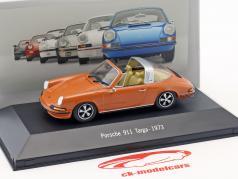 Porsche 911 Targa Bouwjaar 1973 oranje 1:43 Atlas