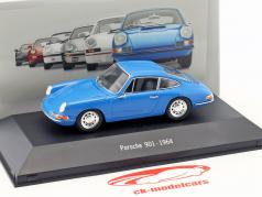 Porsche 901 year 1964 blue 1:43 Atlas
