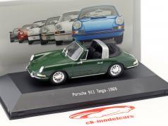 Porsche 911 Targa año de construcción 1965 verde 1:43 Atlas