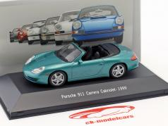 Porsche 911 (996) Carrera cabriolé año de construcción 1999 verde metálico 1:43 Atlas