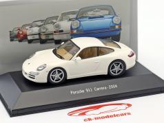 Porsche 911 (997) Carrera año de construcción 2004 blanco 1:43 Atlas