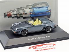 Porsche 911 Speedster year 1989 blue metallic 1:43 Atlas